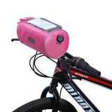 Сумка на руль цилиндр, розовая
