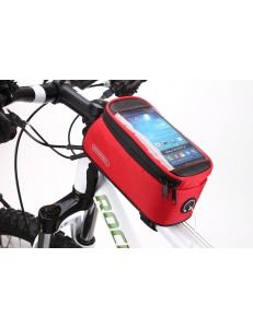 """На рамная сумка для телефона красная  5.5"""" Roswheel красная"""