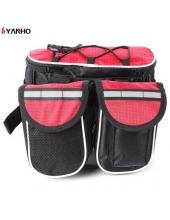 Сумка на руль, сумка на раму + ремень для переноски, красный клапан