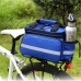 Сумка на багажник, 15л-22л, трансформер, синяя, сумка штаны