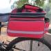 Сумка на багажник 15л-22л трансформер красная, сумка штаны
