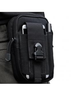 Тактическая мини-сумка на пояс для телефона, бумажника мужская