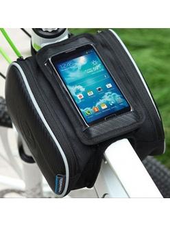 "Сумка на раму смартфон, для GPS, навигатора, телефона, Roswheel 5"""
