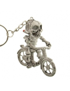 "Брелок ""Скелет на велосипеде"""