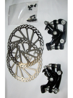 Механический тормоз Sparkle, комплект предний + задний + ротора