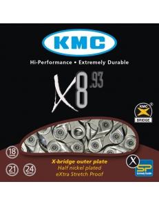 Цепь велосипедная KMC X8-93 8-скоростей
