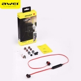 Беспроводные Bluetooth наушники Awei A980BL (красные)