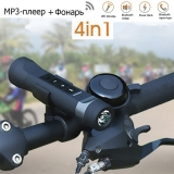 MP3-плеер для велосипеда / туризма Sport Music Bluetooth с гарнитурой громкой связи, фонарём и повербанком