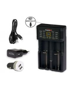 Универсальное зарядное устройство / повербанк / LiitoKala / Rablex RB202, 18650, 26650, AA, AAA