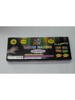 Набор резинок для плетения браслетов RAINBOW LOOM BANDS 600 ШТ + СТАНОК