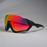 Очки Oakley Flight Jacket, черные, поляризация, 3 сменных линзы