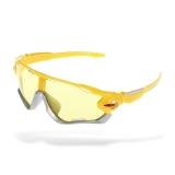 Очки Oakley JawBreaker, цвет серебро/желтый, желт. стекла