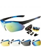 Очки Oakley-Que  4 линзы, поляризация, диоптрическая вставка, синие