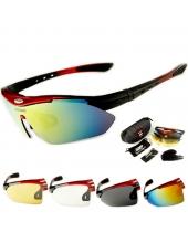 Очки Oakley-Que  4 линзы, поляризация, диоптрическая вставка, красные