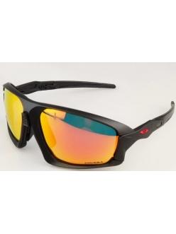 Очки Oakley Field Jacket, цвет черный+красное лого, поляризация, линзы Prizm Road