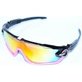 Очки Oakley JawBreaker, цвет черный/розовый, поляризация, линзы Prizm Road, 5 линз
