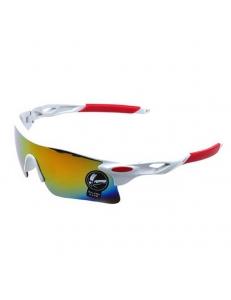 Очки Oakley RadarLock белая оправа - радужные стекла