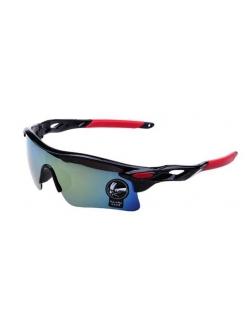 Очки Oakley RadarLock черная оправа - радужные стекла