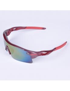 Очки Oakley RadarLock вишневая оправа - радужные стекла