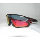 Очки Oakley JawBreaker, черный/красный, поляризация, линзы Prizm Road, 5 линз