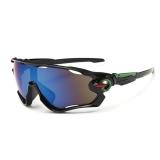 Очки Oakley JawBreaker, цвет черный/зеленый/красный