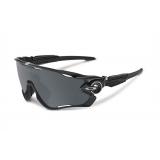 Очки Oakley JawBreaker, черный/серебро, поляризация, линзы Prizm Road, 5 линз