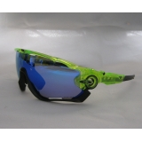 Очки Oakley JawBreaker, цвет зелены самоцвет черный, поляризация, линзы Prizm Road, 5 линз