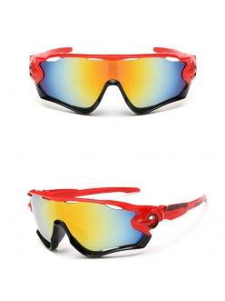 Очки Oakley JawBreaker, цвет красный/черный