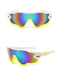 Очки Oakley JawBreaker, цвет белый/желтый