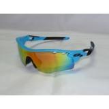 Очки Oakley RadarLock 5 линз поляризация, оправа голубая
