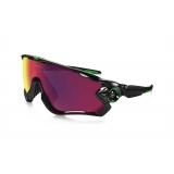 Очки Oakley JawBreaker, черный/зеленый, поляризация, линзы Prizm Road, 5 линз