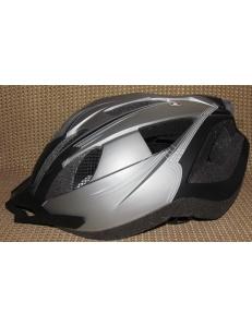 Велосипедный шлем Crivit LED мигалка серый