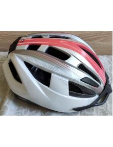 Велошлем детский, подростковый, женский Crivit LED SP-91/SP-06 бел/оранж