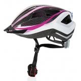 Велошлем женский Crivit LED SP-61 белый/розовый (174)