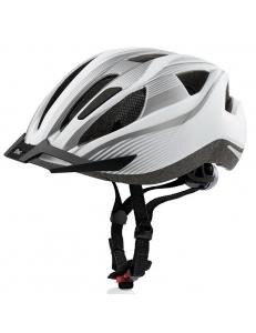 Велошлем Crivit LED SP-61 бел/сер (855)