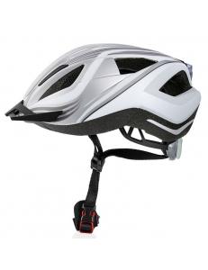 Велошлем Crivit LED SP-61 сер/бел (136)