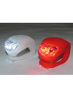 Мигалка Frog комплект, силиконовая мигалка лягушка красная + белая