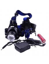 Фонарь на лоб Luxury / POLICE 204C/2188-T6, zoom, налобный фонарь
