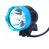 Вело фара, фонарь - фара Cree XML T6, налобный фонарь. 3 режима, голубая