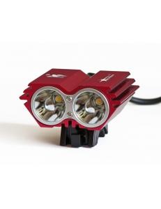 Велофара, фонарь-фара Cree XML 2xU2 Сова Solar Storm Х2 красная