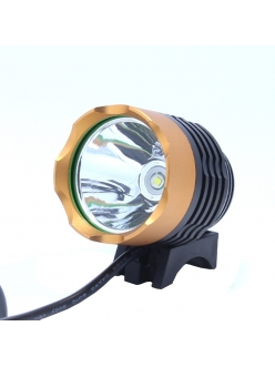 Фонарь-фара Cree XML T6 питание от USB. 800 люмен, 3 режима. вело фара. на лобный фонарь
