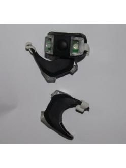 Силиконовая мигалка уши, 2 белых светодиода, черный корпус