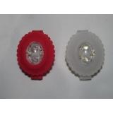 Комплект силиконовых мигалок FL, красная + белая, цветы