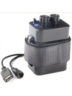 Power Bank 6x18650 8.4v, 5v USB, батарея к велофаре, влагозащита IPX-4, зарядка мобильного телефона