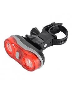 Задний свет велосипеда, 2-LED красный 3-режима, тир оптика, видимость 180 градусов, велосипедов задний фонарь - красный + черный