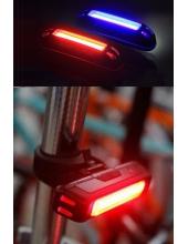 Велофонарь RayPal Comet задний красный+синий, диоды COB