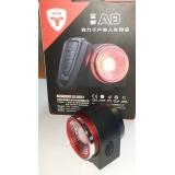 """Вело сигнализация / габарит / сигнал ТМ """"ANTUSI"""" Cicada A8 3-в-1 (COB-диоды, USB, б/п пульт Д/У, 120 Дб)"""