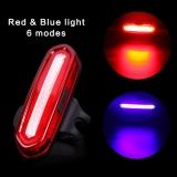 Мигалка Deemount / PAGAO COB, задний красный+синий, 6 режимов