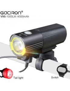 Фара Gaciron V9S-1000 с функцией повербанк + задняя мигалка Gaciron W05