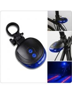 Задняя мигалка с лазерными дорожками, стоп + лазерная дорожка НЛО, синяя